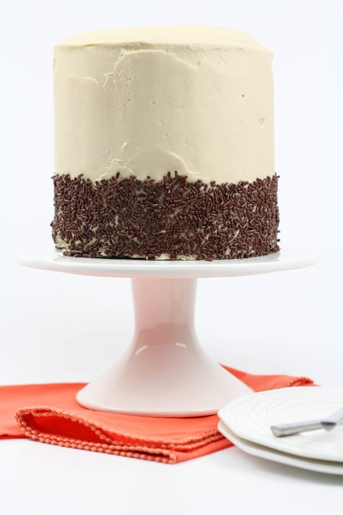 Chocolate Stout Beer Cake with Beer Frosting