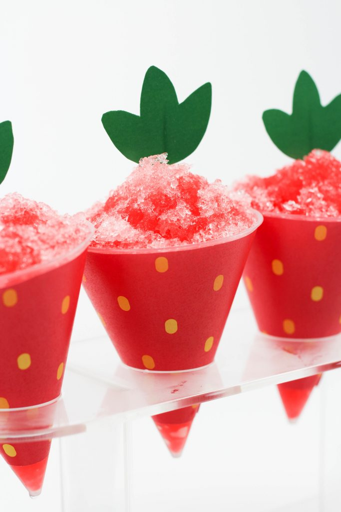 Strawberry Snow Cone Printables