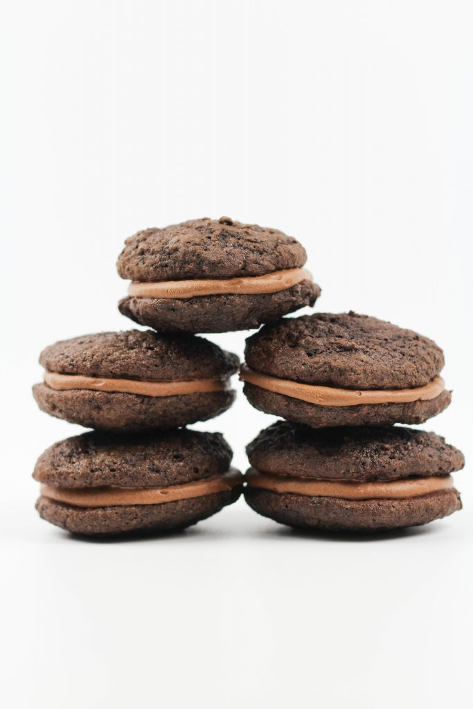 Chocolate Worm Whoopie Pies