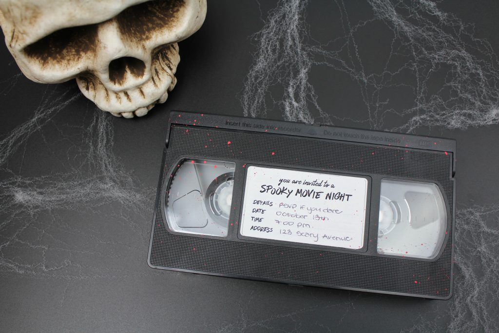 DIY Halloween Movie Night Invitation