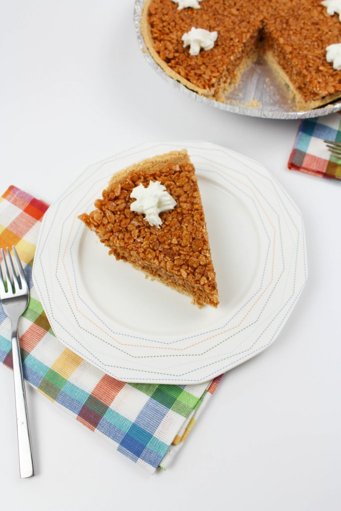 Pumpkin Rice Krispy Treat Pie