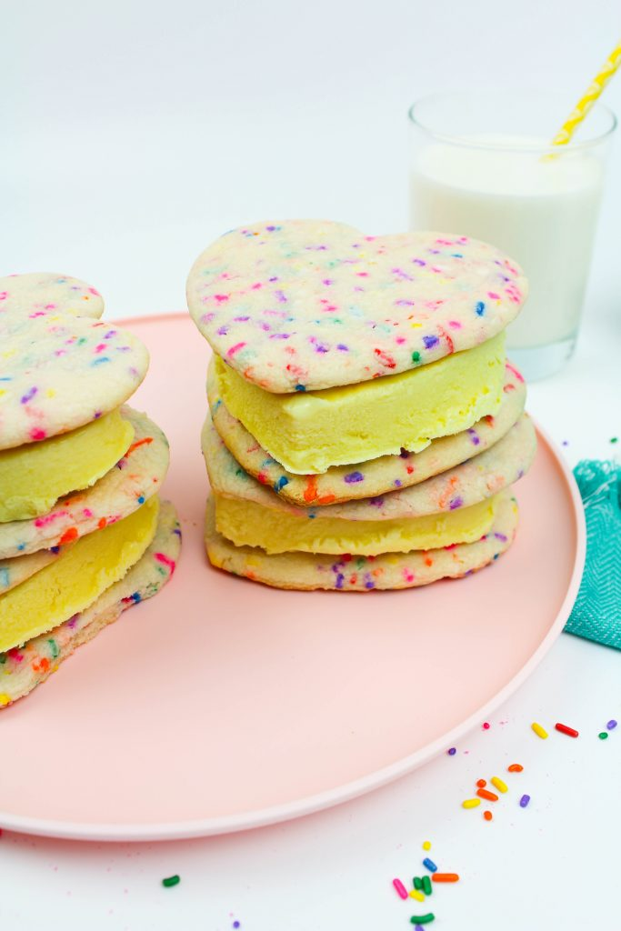 Funfetti Marshmallow Ice Cream Sandwiches