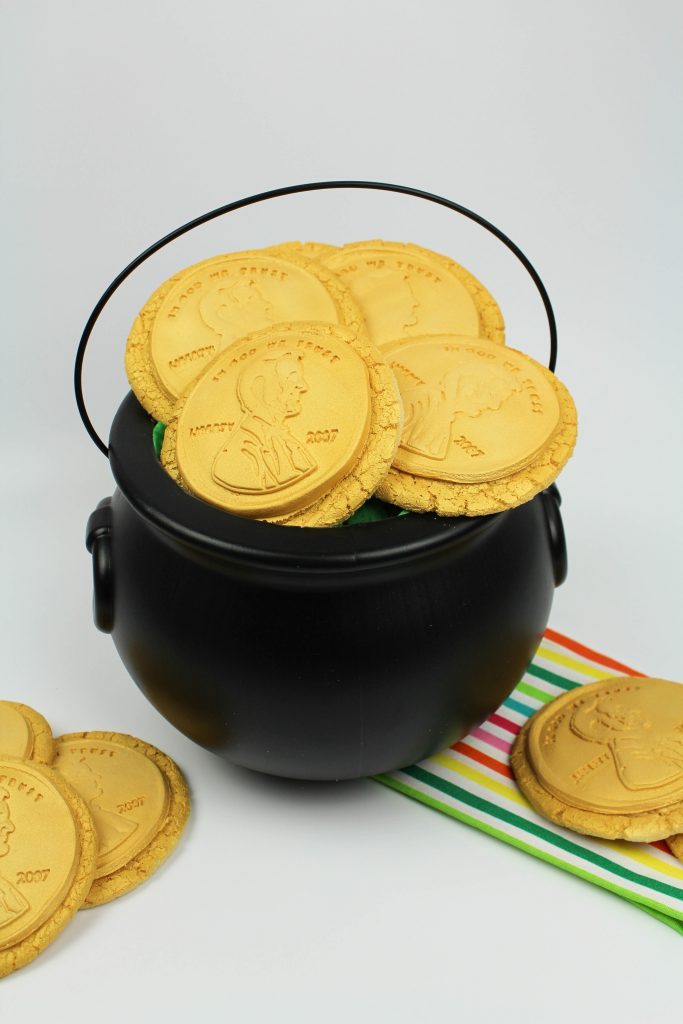 St. Patrick's Day Golden Coin Cookies