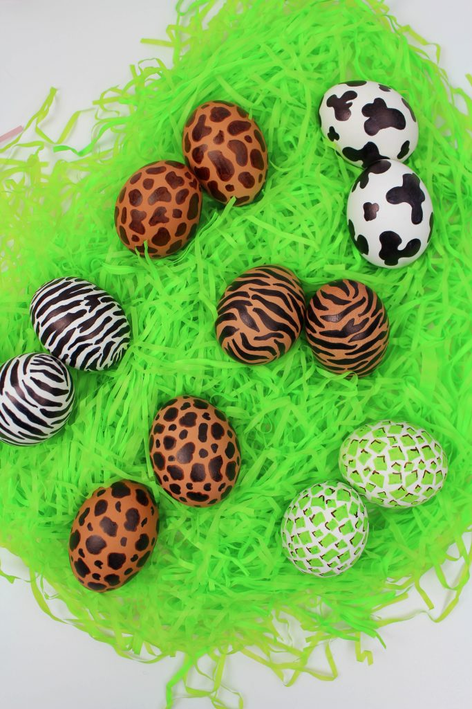 DIY Animal Print Easter Eggs