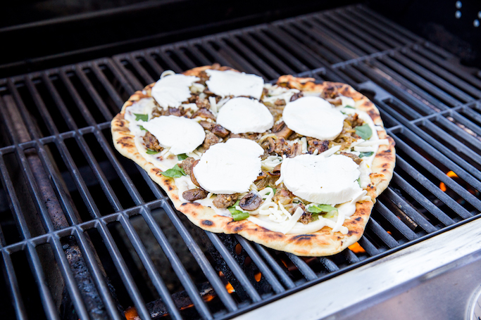 Outdoor Grilled Pizza Night