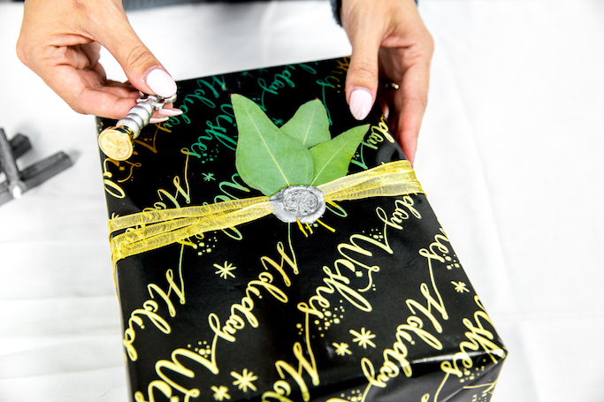 DIY Wax Seal Holiday Gift Wrap