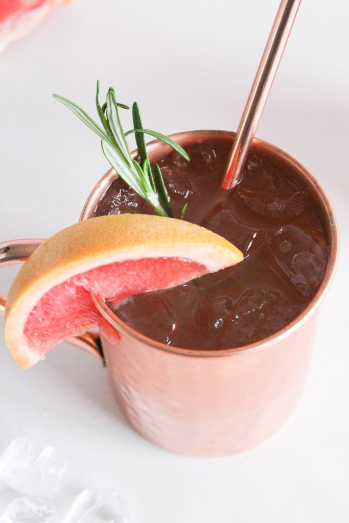 Grapefruit Rosemary Mules