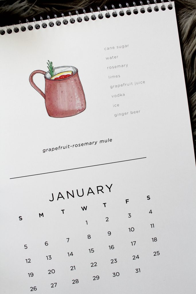 Printable 2020 Cocktail Calendar