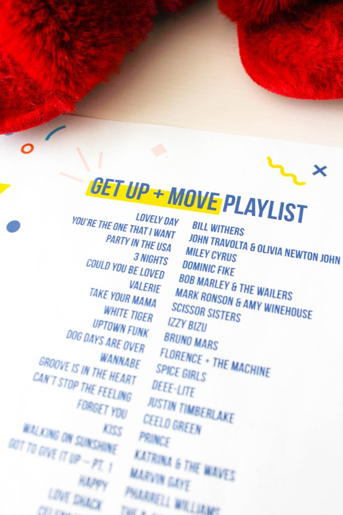 Get Up and Move Playlist