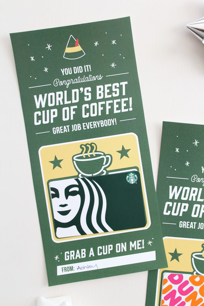 Printable Coffee Gift Card Holder