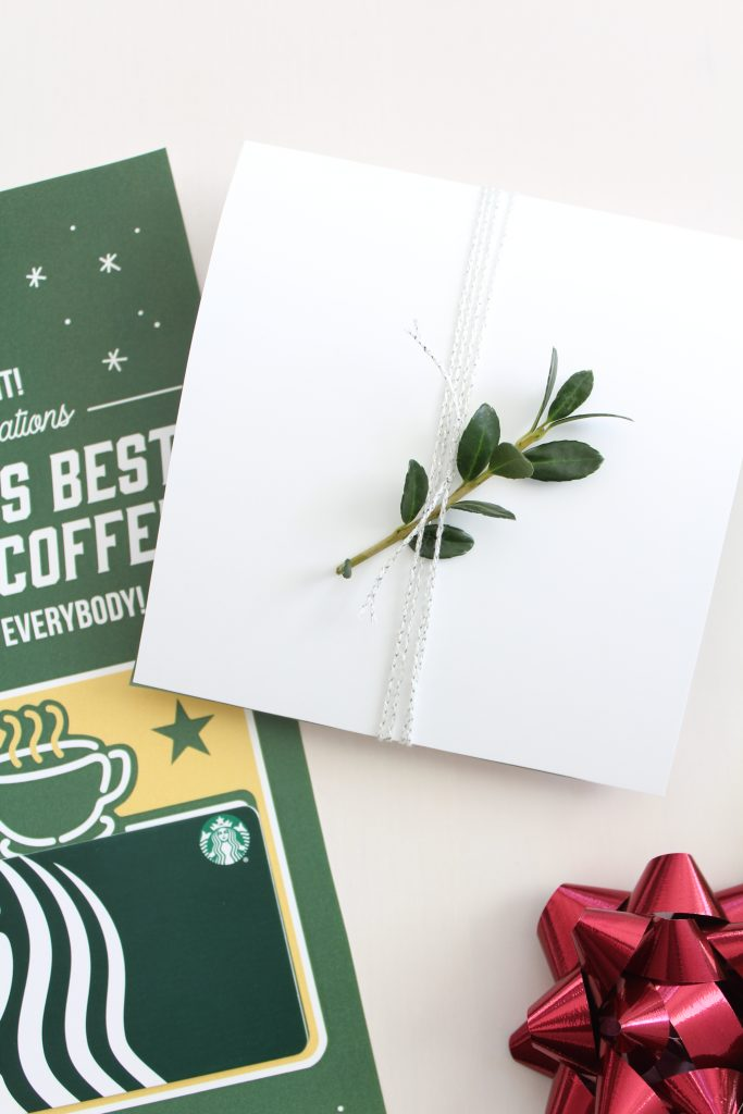 Printable Holiday 'Elf' Coffee Gift Card Holder