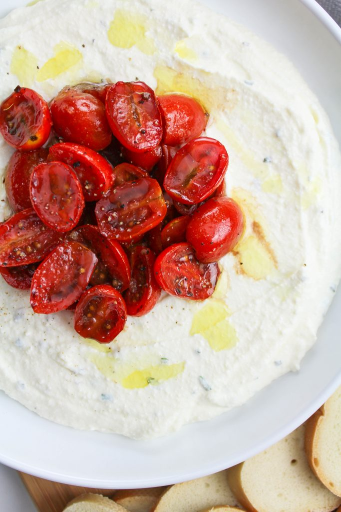 Whipped Ricotta Dip with Balsamic Tomatoes